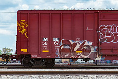 (o texano) Tags: houston texas graffiti trains freights bench benching glue wyse a2m d30 theghouls moniker
