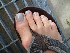 Pedicure Needed! (toepaintguy) Tags: boy summer man sexy male men guy feet glitter bronze fun foot shiny toe shine masculine sandals gorgeous nail gray tan polish glossy nails fingernails gloss fingernail sandal toenails shimmer allure toenail daring lacquer