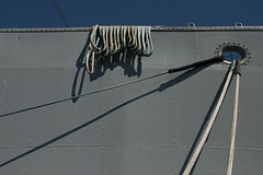 San Francisco - Ropes, Rope and Roped (Drriss & Marrionn) Tags: sanfrancisco california travel blue sky usa dock ship waterfront outdoor ships navy bluesky rope fishermanswharf ropes usnavy libertyship pier45 ssjeremiahobrien