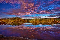 Reflection.Sunrise clouds () Tags: