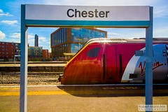 ChesterRailStation2016.07.14-3 (Robert Mann MA Photography) Tags: city summer station architecture train nightscape cheshire cities railway trains chester railwaystation trainstation thursday railways citycentre nightscapes trainstations railstation virgintrains 2016 chesterstation railstations arrivatrainswales class175 class221 supervoyager chestercitycentre class221supervoyager chesterrailstation 14thjuly2016