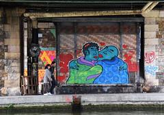 A deux c'est mieux... (HBA_JIJO) Tags: streetart urban graffiti amour paris art france stew hbajijo wall mur painting peinture street people rue scene amor festiwall couple