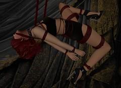 01bound (eviolet88) Tags: bdsm second life bondage shibari masochism pinup peril erotica submissive slave
