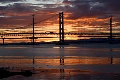 Sunset on Metal (Maggypii58) Tags: 7daysofshooting week3 metallic shootanythingsaturday forth road bridge sunset