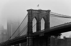 Brooklyn Bridge in Mono (Rebecca Ang) Tags: nyc newyorkcity newyork us usa brooklynbridge bridge architecture monochrome blackandwhite bw longexposure city cityscape urban rebeccaang h