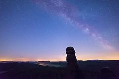 Beautifull summer nights (derliebewolf) Tags: landschaft milkyway natur stars nightshot knigstein sachsen deutschland de timelapse midnight mountains rocks astrophotography astrotimelapse nature nightsky sky