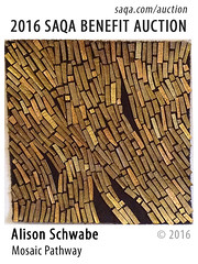 Mosaic Pathway by Alison Schwabe (saqaart) Tags: artquilts saqa fiberart quilts textiles artwork stitched layered