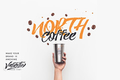 North Coffee (inspiration_de) Tags: brand brush coffee handlettering identity north script typography vintage