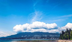 Cloud On The City - Vancouver, Canada (, ) (dlau Photography) Tags: cloud city vancouver canada   seawall    travel tourist vacation visitor people lifestyle life style sightseeing   trip   local    urban tour scenery   weather        stanleypark outdoor  sky skyline