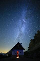 Made in heaven [explored] (Robyn Hooz) Tags: chiesa church via lattea stelle stars trecime lavaredo auronzo dolomiti