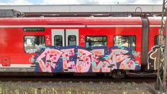 Graffiti (Honig&Teer) Tags: honigteer hannover hildesheim hbf hauptbahnhof spraycanart sport sbahn steel eisenbahngraffiti eisenbahn railroad railroadgraffiti train traingraffiti trainart treno db dbregio deutschebahn vandalismus