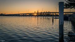 Sunrise Star (Laith Stevens Photography) Tags: theentrance sunrise olympus omd em1 1240mm f28 australia lake sea orange bridge sun