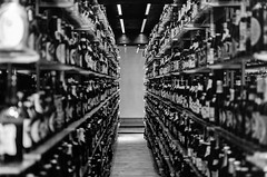 Bottle Collection (Jontsu) Tags: copenhagen denmark carlsberg museum blackandwhite d7000 35mm nikon