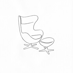 a single line drawing of Egg Chair by Arne Jacobsen (Chad Coombs) Tags: cchadcoombs egg chairby arne jacobsen eggchairbyarnejacobsen unsceneart asingleline oneline oneliner single line singleline ink marker chair design furniture famous vintage classic famouse get naked ontop these topless pantless fun all over