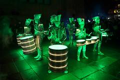 Spark by Worldbeaters Music @ Light Night Leeds 2016 (tricky (rick harrison)) Tags: lightnight leeds leedslightnight lightnightleeds art light festival spark wordbeaters worldbeatersmusic drummers drumming led leds colourful