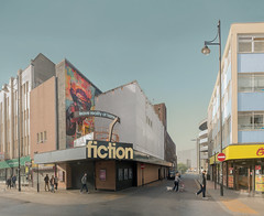 fiction 2016 (chrisdb1) Tags: architecture archive artist chrisdorleybrown cityscape composite desolation dystopia east eastend estate joiner knowledge landscape london londonist nikon photorealism power public revolution street streetlife time d800 phone municipal civic modern demolition romford havering shoppingcentre 1960s modernist modernism