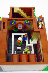 Modular Lego Wine Shop (jskaare) Tags: world city house building home shop corner town store cafe apartment lego wine winery deck modular attic tasting custom shoppe moc myowncreation cafecorner