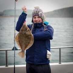 "Rowena Tyte with a 2.5lb plaice • <a style=""font-size:0.8em;"" href=""http://www.flickr.com/photos/113772263@N05/16638279029/"" target=""_blank"">View on Flickr</a>"