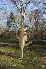 """Yara - """"Dance before and after!"""" - Part VII of Series """"Touched by the Earth"""" (* La Strada Fellini * braunpanther *) Tags: park woman tree art beauty fashion forest garden artwork model artist emotion expression muse story photograph painter classy yarapirk"""