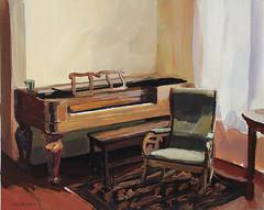 Acrylic Painting: Piano and Rocker (cbreier) Tags: gardens painting chair acrylic interior paintings piano mansion rocking canandaigua sonnenberg