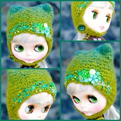 The Folklore Kitty Helmet: Mountain Moss (Euro_Trash) Tags: flowers blue green net felted aqua buttons helmet knit jade website com embroidered embellished eurotrash kittyhelmet handmadeforneoblythe