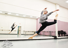 Cath (Blinkofanaye) Tags: ballet smile bar studio dance leap jete