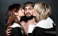 Jesus and new friends (Franois Escriva) Tags: woman man paris cute mannequin girl beautiful studio model pretty jesus
