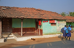 THERE WAS A POST OFFICE IN THAT LITTLE VILLAGE... (GOPAN G. NAIR [ GOPS Photography ]) Tags: life india rural photography office village post karnataka gops gopan gopsorg gopangnair gopsphotography