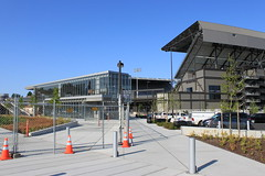 UW Station and Husky Stadium (SounderBruce) Tags: huskystadium glassbox lightrailstation universitylink linklightrail uwstation universityofwashingtonstation