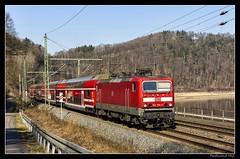 DB Regio BR 143 365-5 Knigstein_Sachsen_DE (ferdahejl) Tags: de sachsen knigstein dbregio br1433655