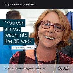 You can almost reach in to the 3D web. (SWAG - Speak With A Geek) Tags: 3d technology tech quote meme swag threedimensional 3dweb speakwithageek autodeskforgedevcon 3dwebfest