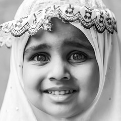Faces of Ramzan (Sathish_Photography) Tags: girls blackandwhite monochrome kids portraits eyes faces madras happiness chennai bwphotography nikon85mm closeupface primelens muslimgirls triplicane sathishphotography nikon750 sathishkumarphotography triplicanemasjid triplicanewallajahmosque eyecloseupshots ramzanday
