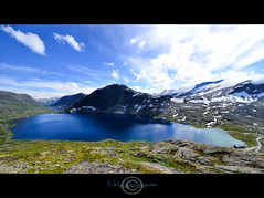Natural Dimensions (geirkristiansen.net.) Tags: d800 nature mountains djupvatnet snow norway sigma1224mmf4556mkii summer wild bltt norge djupvasshytta bl sunnyday blue dalsnibba wide vill mreogromsdal no