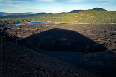 Cinder Cone Shadow (Kurt Lawson) Tags: ash bed beds black blue ca california cinder cinders cone fantastic green lassen lava national nationalpark park pine shadow sky tree trees volcanic volcano unitedstates
