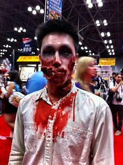 NYC; Comicon (jensunderland) Tags: costume cosplay nycomiccon2012 iphone zombie portrait candid comiccon nyc