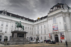 Josefplatz in Vienna, Austria (ManuelHurtado) Tags: countries places ancient architecture austria austrian building city cityscape cloudy culture emperor europe european facade heritage historic historical history hofburg imperial landmark monument museum palace royal street tourism traditional travel urban vienna wien at