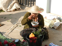 Kalaw (simo2582) Tags: people asian asia burmese shanstate shan birma birmania burma myanmar market kalaw human trade typical hilltribes tribes mountain hillstation village countryside travel reise blick unterwegs world traditional 5daysmarket groceries street eating woman sitting