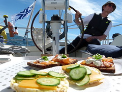 Sailing Passepartout (Moqit) Tags: notstraithened saltvik seglinge njk sailboat swedenyachts relax sun holiday summer salmon finland aland land lunch sailing