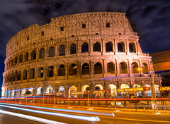 Colosseum at night (gags9999) Tags: italy rome colosseum night lighttrails cityscape nightscape