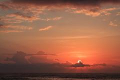 Sunrise at Amed (Pei Chen Lu) Tags: sun sunrise cloud sky outdoor ocean sea colors behind amed bali indonesia orange        travel