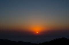 Mountain Gomi (Andgula) Tags: mountain sunset golden hour sun yellow hiking nikon d5100 landscape georgia wild traveling travel sky clouds fog
