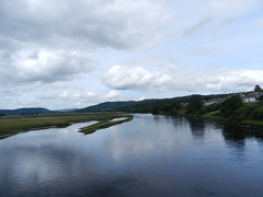 Kyle of Sutherland, Bonar Bridge, Sutherland, July 2016 (allanmaciver) Tags: kyle sutherland bonar bridge water clouds drizzle wet damp reflections still expanse wide river allanmaciver