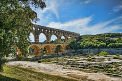Another view of the Pont du Gard near Nimes, France Roman 1st century CE (mharrsch) Tags: arch aqueduct architecture engineering roman bridge unesco pontdugard france ancient mharrsch