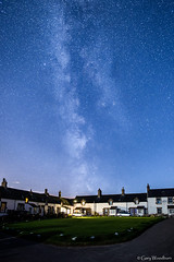 The Village - Milky Way, Low Newton by the Sea, Northumberland (Gary Woodburn) Tags: milky way night sky stars starry blue fishing green square northumberland low newton by sea canon 6d samyang 24mm