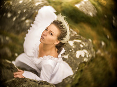 Jilted (i-r-paulus) Tags: jilted weddingdress bride dramatic woman rain dartmoor cctvlens cctv