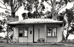 Front of House, that's all there is left! (holly hop) Tags: house home wallwednesdays wall rural architecture bush australia kooreh centralvictoria bw monochrome outdoors hww windowwednesday