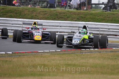 Luis Leeds and Zane Goddard in British Formula 4 during the BTCC 2016 Weekend at Snetterton