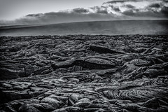 The Petrified Sea (basselal) Tags: 100xthe2016edition 100x2016 bigisland image21100 lavarocks bw hawaii pahoehoe monochrome