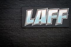 (230/366) Laff (CarusoPhoto) Tags: berwyn laff sign brick wall black john caruso carusophoto photo day project 365 366 exposure pentax ks2 hdpentaxdal1850mmf456dcwrre hd pentaxda l 1850mm f456 dc wr re