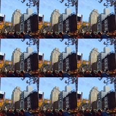 New Yawk courtesy of the Layout app. Happy Slider Sunday! (Cassi J) Tags: slidersunday nyc chelsea city abstract buildings outdoors layoutapp manhattan